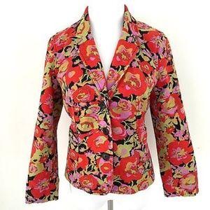 Isaac Mizrahi Target Floral Blazer Boho Jacket